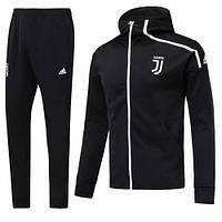 Спортивный костюм Ювентус/Juventus с капюшоном ( Италия, Серия А ), черный, сезон 2019-2020
