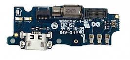 Нижняя плата Meizu M2, M2 mini с разьемом зарядки и микрофоном