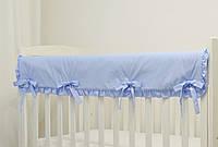 """Защита на верх бортика кроватки из хлопка """"Лагуна"""""""