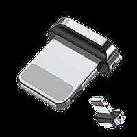 Овальный коннектор Iphone для магнитного кабеля с передачей данных TOPK AM61, фото 1