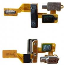 Шлейф Huawei Ascend G7 с датчиком приближения, разьемом наушников и вибромотором