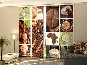"""Панельные Фото шторы """"Кофе Африка"""" 240 х 240 см"""