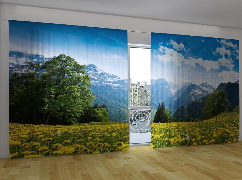"""Панорамные Фото шторы """"Альпы"""" 270 х 500 см"""
