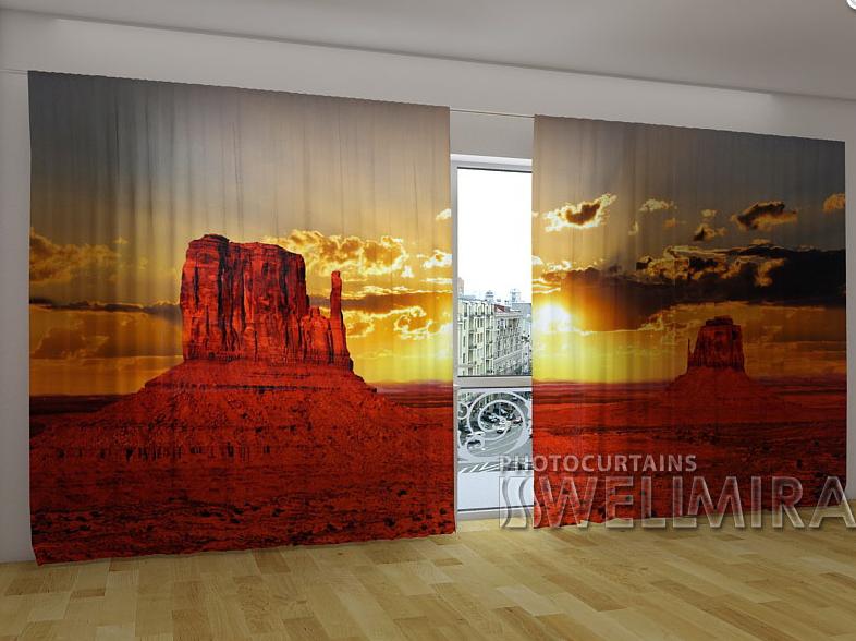 "Панорамные Фото шторы ""Аризона"" 270 х 500 см"