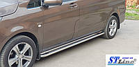 Mercedes Vito W447 (14+) боковые пороги подножки площадки на для Мерседес Вито Mercedes Vito W447 (14+) длин база d42х1,6мм