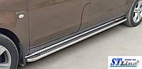 Mercedes Vito W447 (14+) боковые пороги подножки площадки на для Мерседес Вито Mercedes Vito W447 (14+) экстра длин база d51х1,6мм
