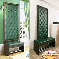Мягкие стеновые панели на заказ  с пуговицами из кожзама для мебели  в прихожей