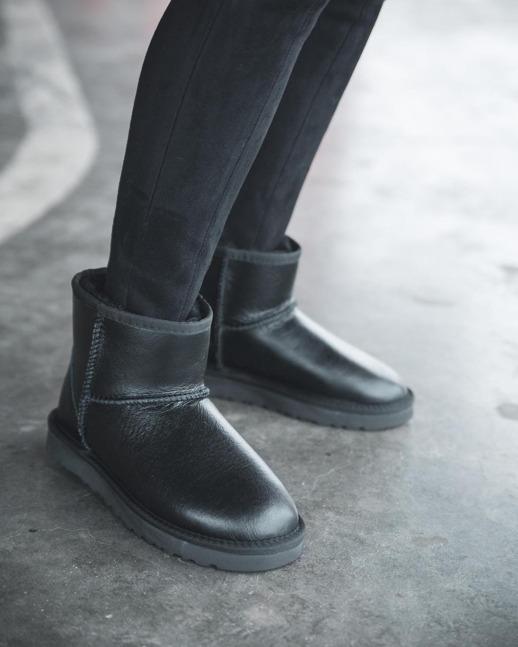 Ugg Classic Mini Black Leather