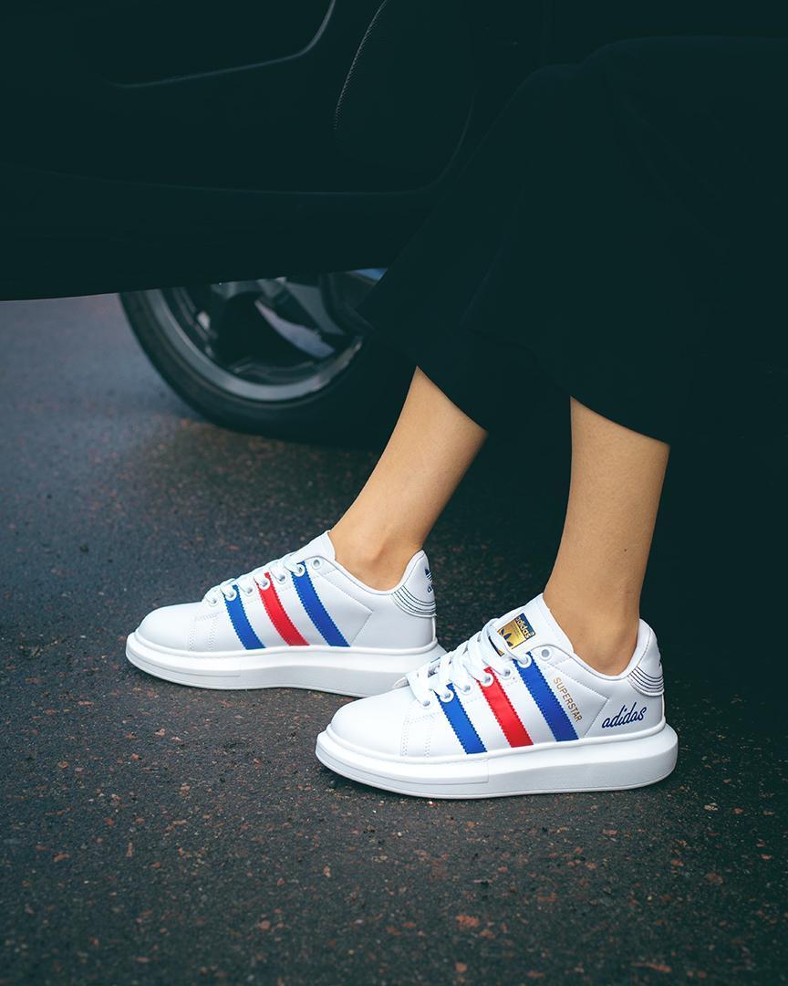 Кроссовки женские в стиле Adidas Super Star