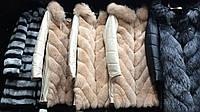 Жилет трансформер из  меха финского песца