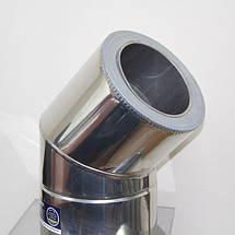 Фабрика ZIG Отвод 45° для дымохода ø 220/280 н/н 0,6 мм, фото 3