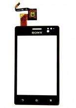 Сенсор (тачскрин) Sony ST27i Xperia Go черный Оригинал Китай