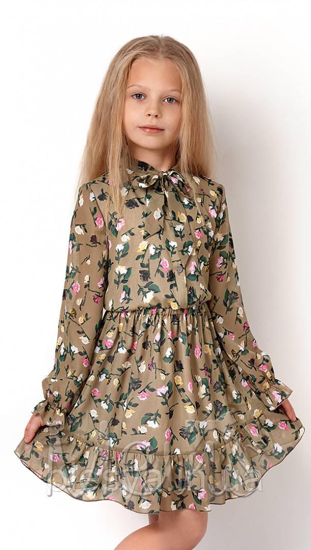Платье для девочки с длинным рукавом 3234 ТМ Mevis Размеры 122-146