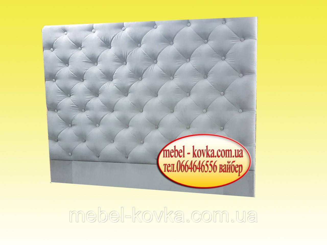 Мягкие стеновые панели на заказ  с пуговицами из велюра Лира