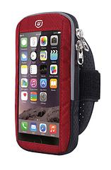 """Чохол-футляр захисний """"дихаючий"""" світиться на передпліччі YIPINU для телефону (5.0"""" / 6.1"""") із сенсорною плівкою МАКС (до 6.1""""), ЧЕРВОНИЙ"""