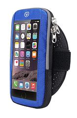 """Чохол-футляр захисний """"дихаючий"""" світиться на передпліччі YIPINU для телефону (5.0"""" / 6.1"""") із сенсорною плівкою СИНІЙ, МАКС (до 6.1"""")"""