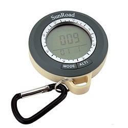Цифровий компас SunRoad SR108N 8 в 1 метеостанція термометр, барометр альтиметр годинник) компас (acf_00018)