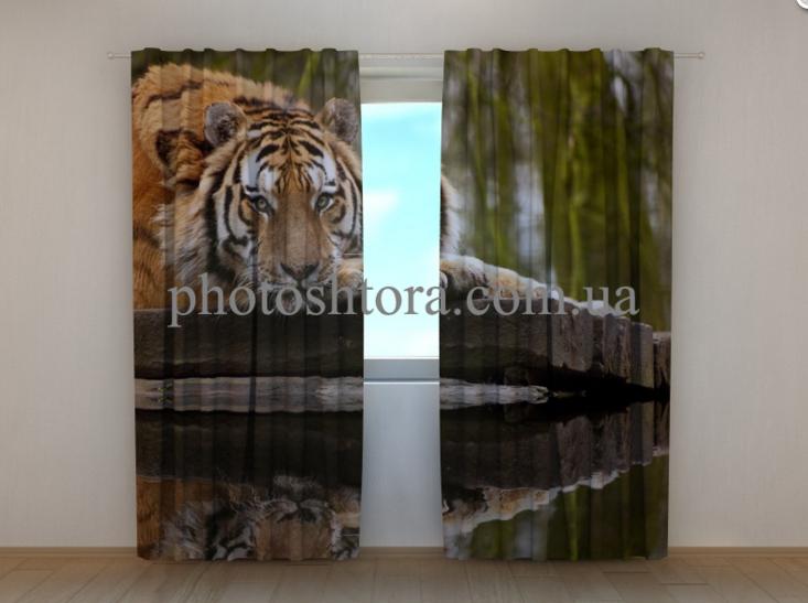 """Фото шторы """"Мудрость тигра"""" 250 х 260 см"""