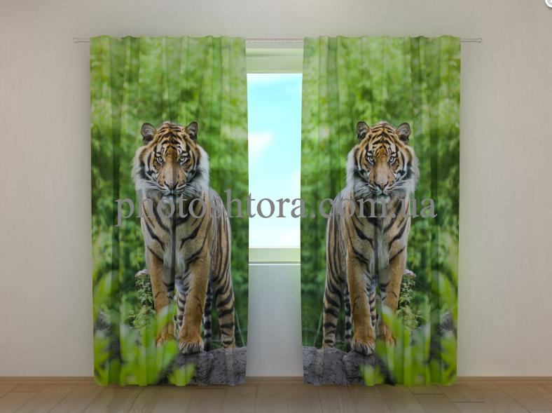 """Фото шторы """"Два тигра"""" 250 х 260 см"""