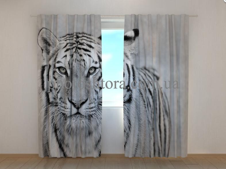 """Фото штори """"Білий тигр"""" 250 х 260 см"""