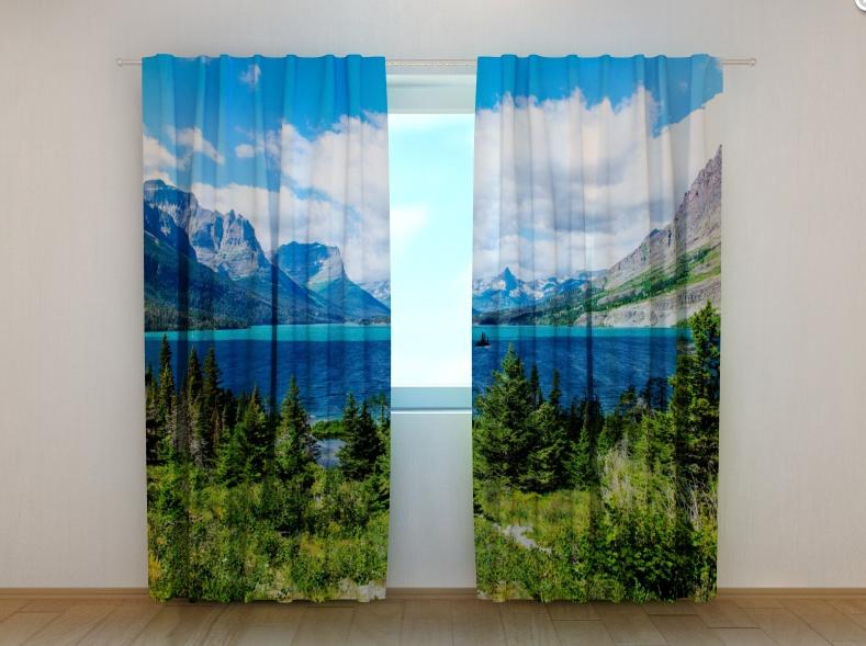 """Фото шторы """"Озеро св. Марии"""" 250 х 260 см"""
