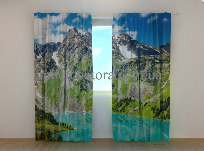 """Фото штори """"Чарівні гори"""" 250 х 260 см"""