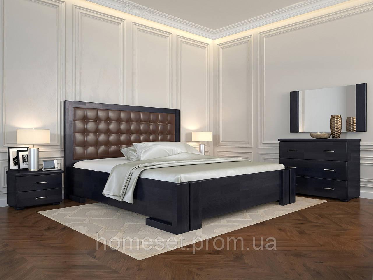 Двуспальная кровать с дерева Амбер