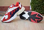 Кроссовки женские Adidas Yung белые с красным и синим, фото 5
