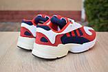 Кроссовки женские Adidas Yung белые с красным и синим, фото 6