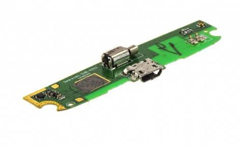 Нижняя плата Lenovo S820 с разъемом зарядки, микрофоном и виброзвонком, фото 2