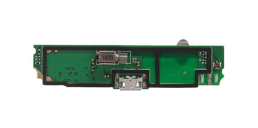 Нижняя плата Lenovo S890 с разъемом зарядки, микрофоном и виброзвонком, фото 2