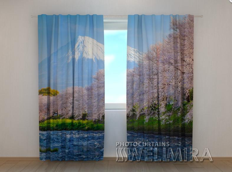 "Фото шторы ""Фудзи и сакура"" 250 х 260 см"