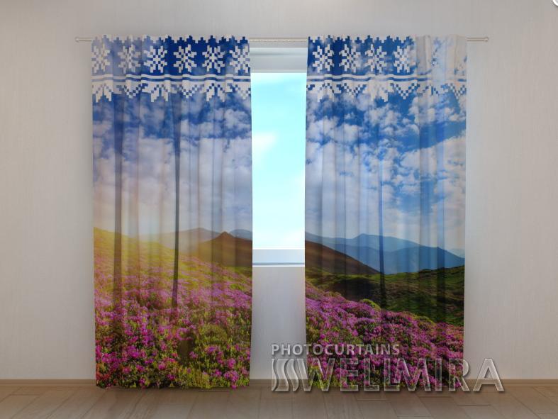"""Фото шторы """"Украинские горы"""" 250 х 260 см"""