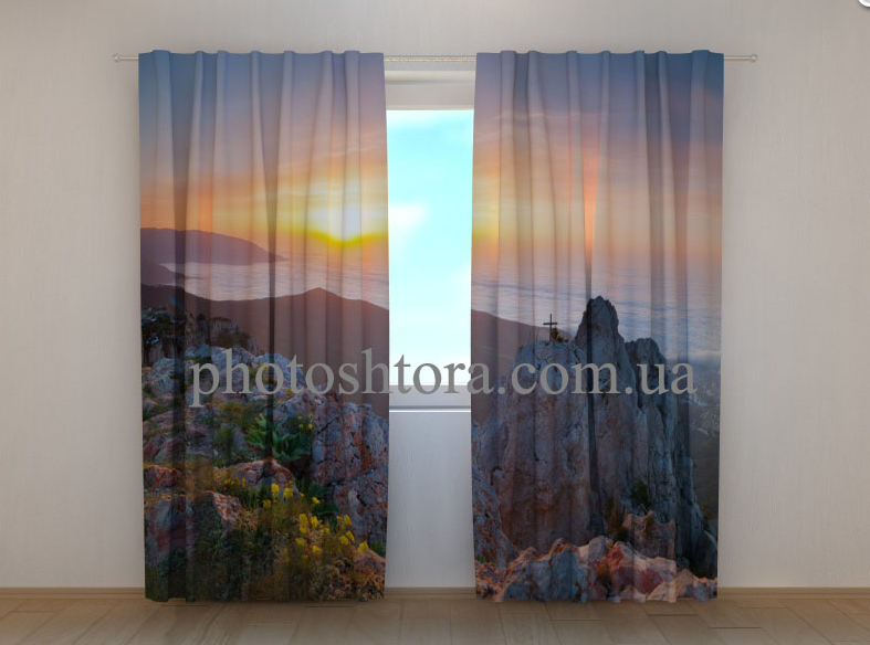 """Фото шторы """"На вершине Ай-Петри"""" 250 х 260 см"""