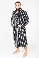 Мужской халат с карманами в полоску, фото 1