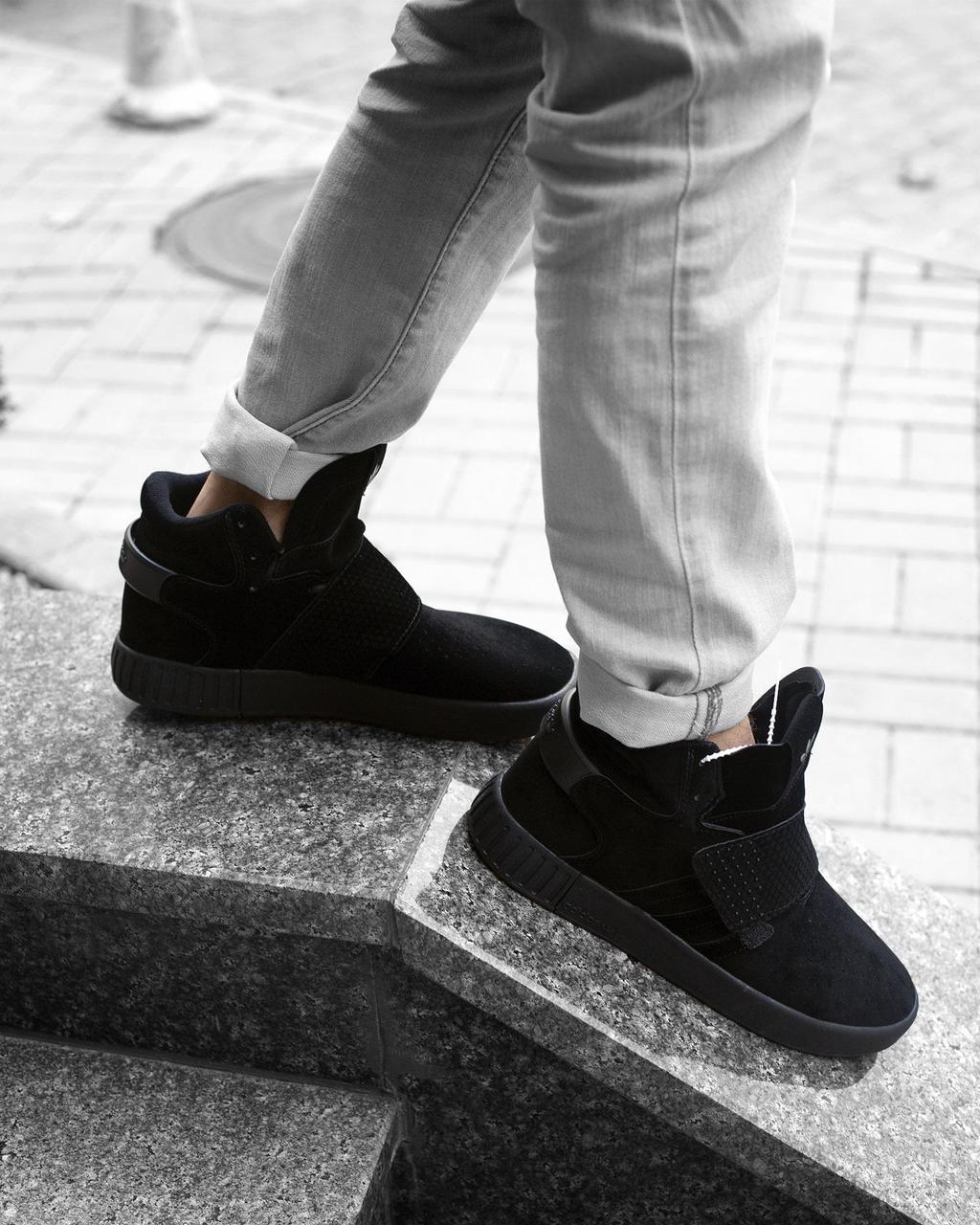 Кроссовки женские в стиле Adidas Tubular Invader Strap