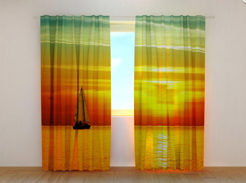 """Фото шторы """"Закат"""" 250 х 260 см"""