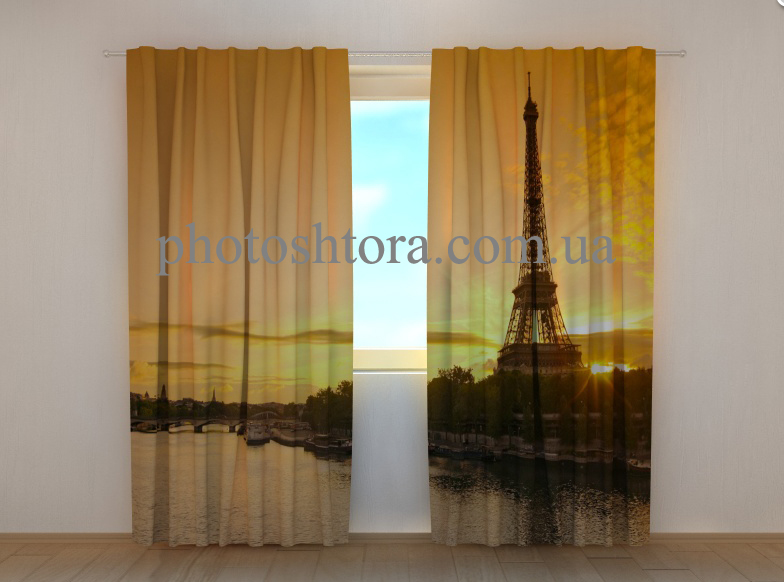 "Фото шторы ""Сена и башня"" 250 х 260 см"