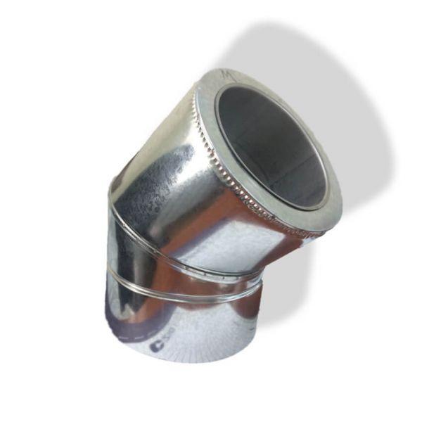 Фабрика ZIG Отвод 45° для дымохода ø 130/200 н/оц 0,6 мм