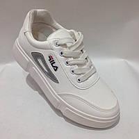 Кроссовки в стиле FILA 38 р. последняя пара модные белые, фото 1