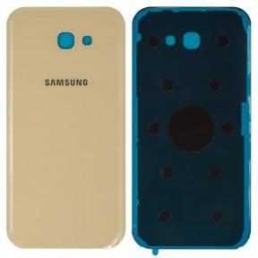 Задняя крышка Samsung A720F Galaxy A7 (2017) золотистая, фото 2
