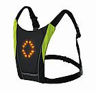 Беспроводной велосипедный водоустойчивый (IPx-2) диодный указатель поворотов / велоповоротник на спину, фото 3