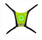 Беспроводной велосипедный водоустойчивый (IPx-2) диодный указатель поворотов / велоповоротник на спину, фото 4