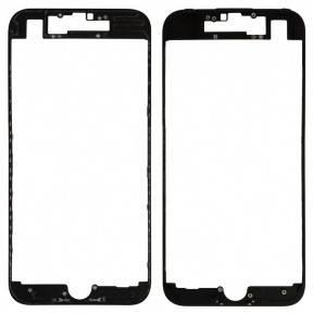 Рамка крепления дисплея для Apple iPhone 7 черная, фото 2