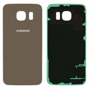 Задняя крышка Samsung G920F Galaxy S6 золотистая, фото 2