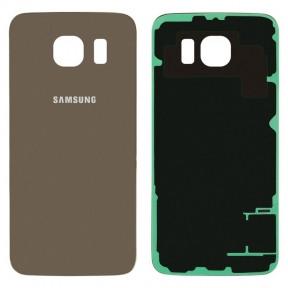 Задняя крышка Samsung G920F Galaxy S6 золотистая