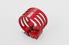 Подседельный алюминиевый CNC / ЧПУ хомут / зажим Lifetone L-329 34,9 мм антивандальный / против кражи седла КРАСНЫЙ