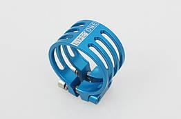 Подседельный алюминиевый CNC / ЧПУ хомут / зажим Lifetone L-329 34,9 мм антивандальный / против кражи седла ГОЛУБОЙ