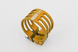 Подседельный алюминиевый CNC / ЧПУ хомут / зажим Lifetone L-329 34,9 мм антивандальный / против кражи седла ЖЁЛТЫЙ