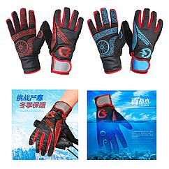 Зимние велосипедные перчатки KINGSIR непродуваемые непромокаемые с удлиненной манжетой и мембраной WINDSTOPPER